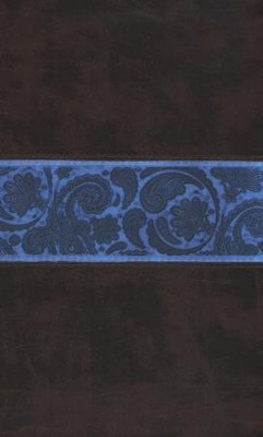 ESV Thinline Bible, TruTone, Chocolate/Blue, Paisley Band)  -
