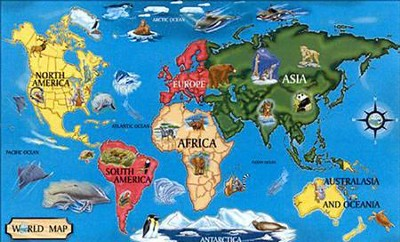 World Map Floor Puzzle   -     By: Melissa & Doug