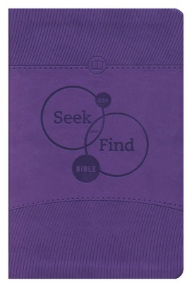 ESV Seek and Find Bible, TruTone, Lavender  -