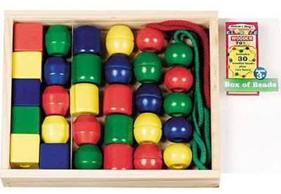 Primary Lacing Beads (30 pieces)   -     By: Melissa & Doug