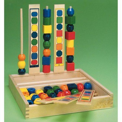 Wood Bead Sequencing Set   -     By: Melissa & Doug