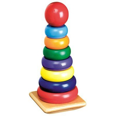 Wood Rainbow Stacker   -     By: Melissa & Doug