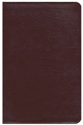 ESV New Classic Reference Bible, Genuine leather, burgundy  -