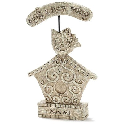 Sing A New Song Birdhouse Garden Figure  -