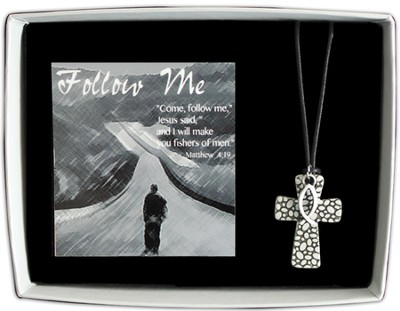 Ichthus Necklace, Follow Me  -
