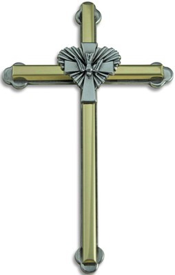 Two Tone Dove Wall Cross  -