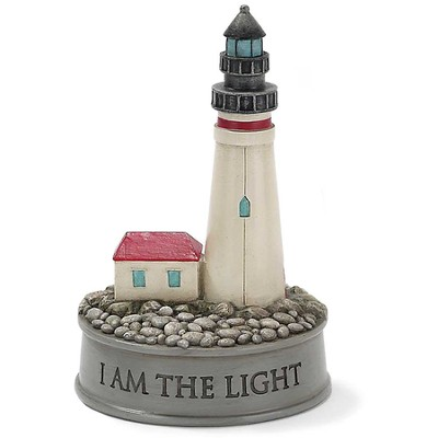 I Am the Light Of the World Lighthouse Figure  -