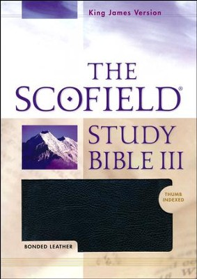 KJV Scofield Study Bible III, Black Bonded Leather, Thumb-Indexed  - Imperfectly Imprinted Bibles  -