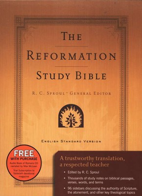 ESV Reformation Study Bible Genuine Leather, Burgundy  -     Edited By: R.C. Sproul