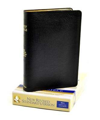 NRSV Bible, Black Genuine Leather   -