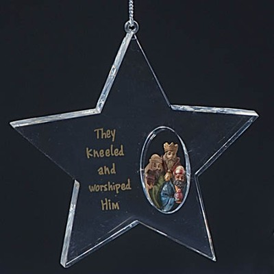 Three Kings Star Acrylic Ornament  -