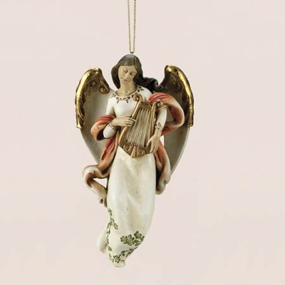 Angel with Harp Ornament  -