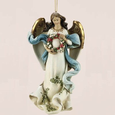 Angel with Wreath Ornament  -