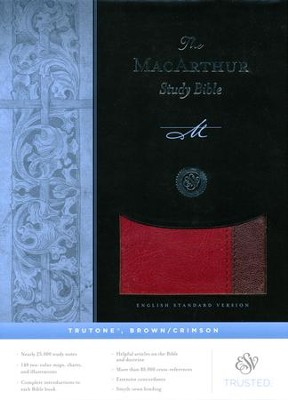 ESV MacArthur Study Bible (TruTone, Brown/Crimson)   -