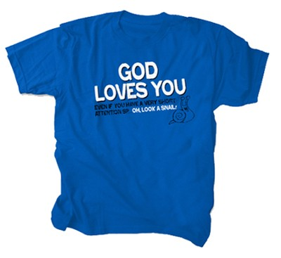 God Loves You Shirt, Blue, 5/6T  -