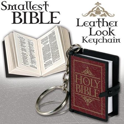 Smallest Bible Keychain, Burgundy  -