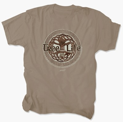 Tree of Eternal Life Shirt, Tan, 3X Large  -