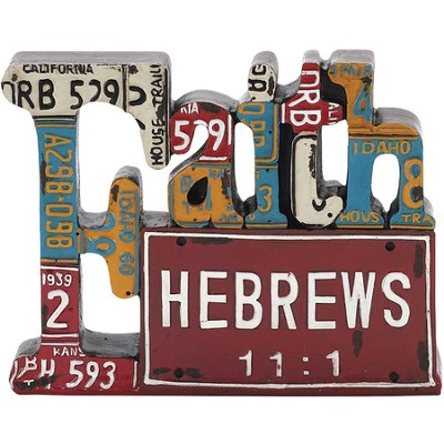 Faith, License Plate Scripture Figure  -