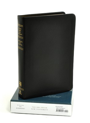 UBS Greek New Testament: Reader's Edition with Textual Notes, Calfskin Leather, black  -     Edited By: Barbara Aland