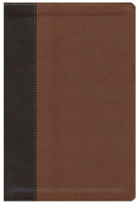 ESV Single Column Legacy Bible, Pocket Cover, TruTone, Brown/Cordovan, Portfolio Design  -