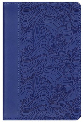 ESV Compact Bible, TruTone, Deep Blue, Waves Design  -