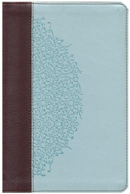 ESV Personal-Size Study Bible, TruTone, Chocolate/Blue, Ivy Design - Imperfectly Imprinted Bibles  -