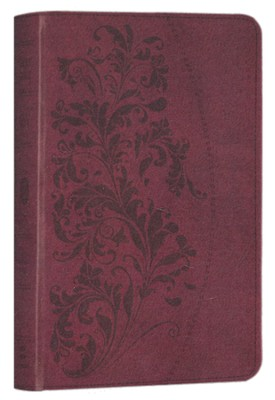ESV Large Print Compact Bible (TruTone, Ruby, Bloom Design)  -