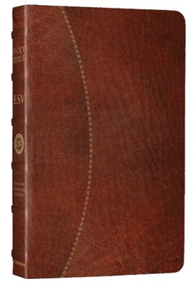 ESV Vintage Thinline Bible (Cowhide, Chestnut, Hemisphere Design)  -