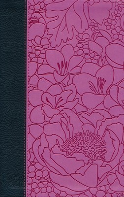 ESV Thinline Bible (TruTone, Ebony/Berry, Bouquet Design)  -