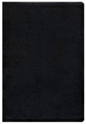 ESV Large Print Thinline Reference Bible, Genuine Leather, Black  -