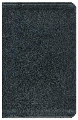 ESV Thinline Bible Genuine Leather Black   -