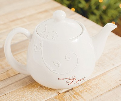 No Greater Love Teapot  -