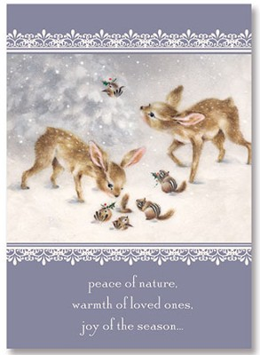 Peace of Nature Christmas Card, Pack of 25  -