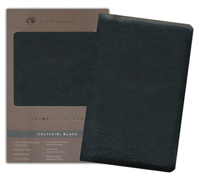 ESV Thinline Bible Calfskin, Black  -