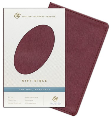 ESV Gift Bible, Burgundy imitation leather  -