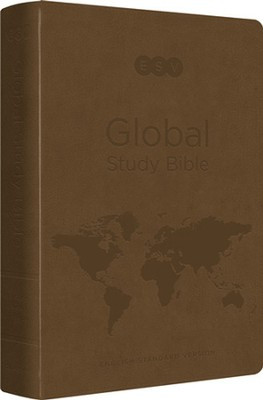 ESV Global Study Bible (TruTone, Brown), Leather, imitation  -