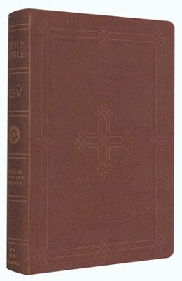 ESV Personal Reference Bible, Imit. Leather,  Brown - with Engraved Cross Design  -