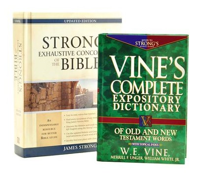 Strong's & Vine's Word Study Pack, 2 Volumes   -