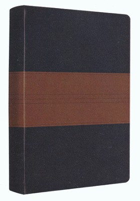 ESV Personal Reference Bible, Navy/chestnut soft leather-look with trail design  -