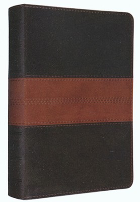 ESV Personal Reference Bible, Forest/tan soft leather-look with trail design  -