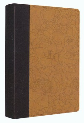 ESV Personal Reference Bible, coffee/goldenrod imitation  leather with bouquet design         -