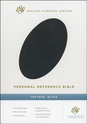 ESV Personal Reference Bible, Black imitation leather  -
