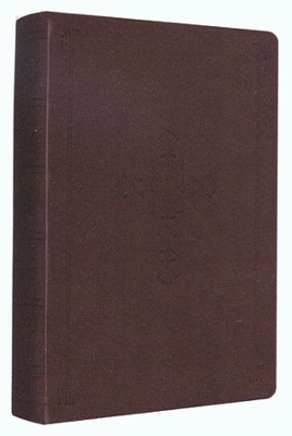 ESV Personal Reference Bible, Brown Imitation Leather with Antique Cross Design  -