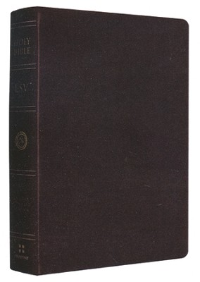 ESV Single Column Heritage Bible--genuine leather, black  -
