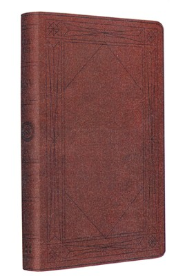 ESV Thinline Bible, TruTone, Brown, Window Design  -