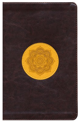 ESV Thinline Bible, TruTone, Chocolate/Goldenrod, Emblem Design  -