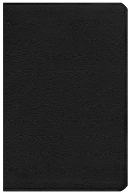 ESV Gospel Transformation Bible--calfskin leather, black  -