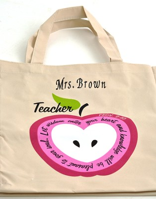 Personalized, Let Wisdom Enter Your Heart, Teacher's  Tote  -
