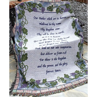 The Lords Prayer Throw  -