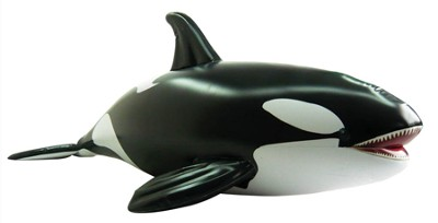 Killer Whale Lifelike Inflatable Animal, 84 Long   -